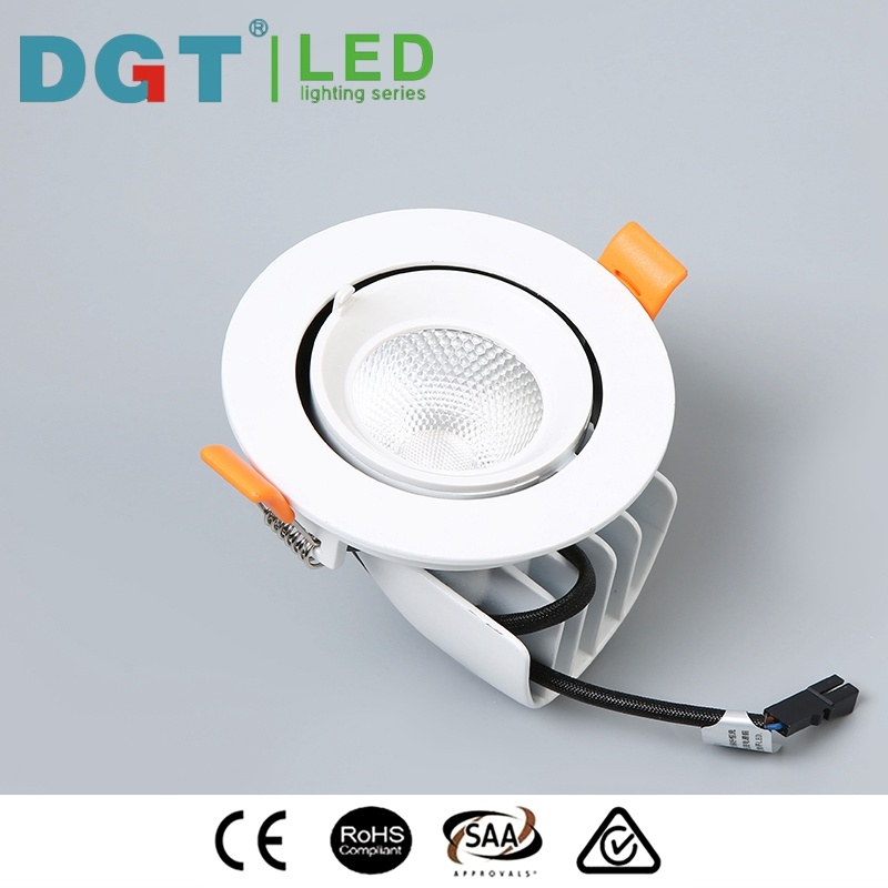 12W Adjustable LED COB Recessed Spotlight for Project