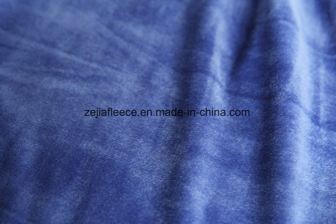 Super Soft Short Plush Velvet Fabric in Royal blue Color