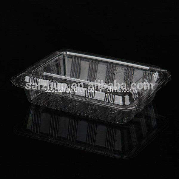 Rectangular BOPS Disposable Plastic Sushi Cake Snack Box (SZ-001)