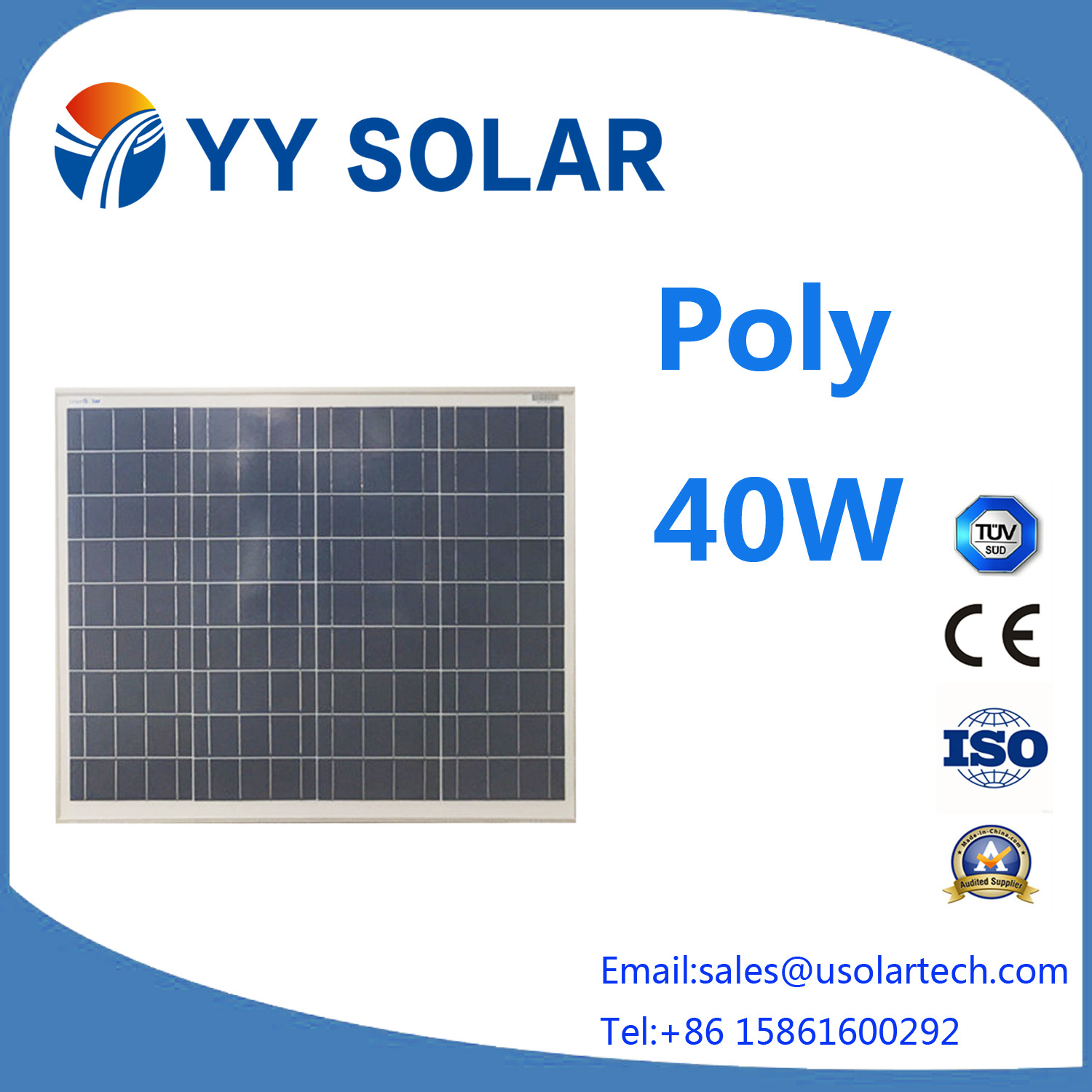 Most Popular 30W/40W/50W Solar Module with Ce/TUV