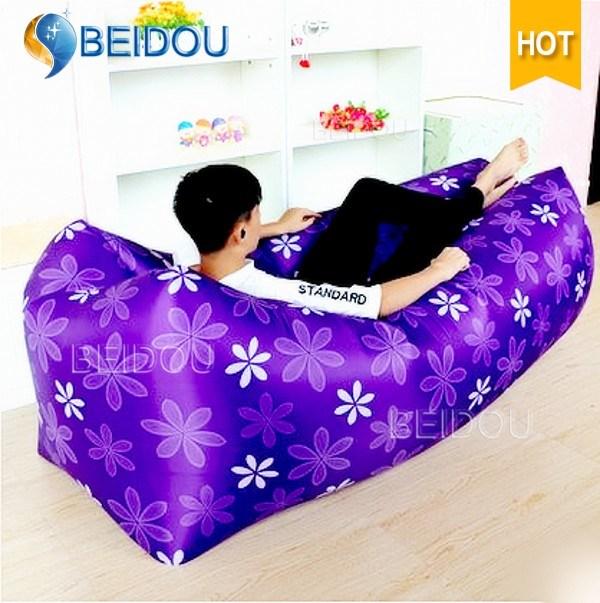 One-Mouth Inflatable Air Sofa Bed Lazy Bean Sleeping Bag Hammock