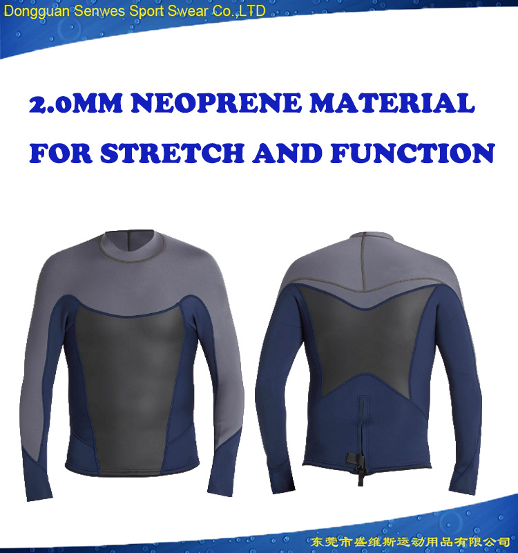 Foil 2mm Long Sleeve Jacket Men Neoprene Diving Wetsuit