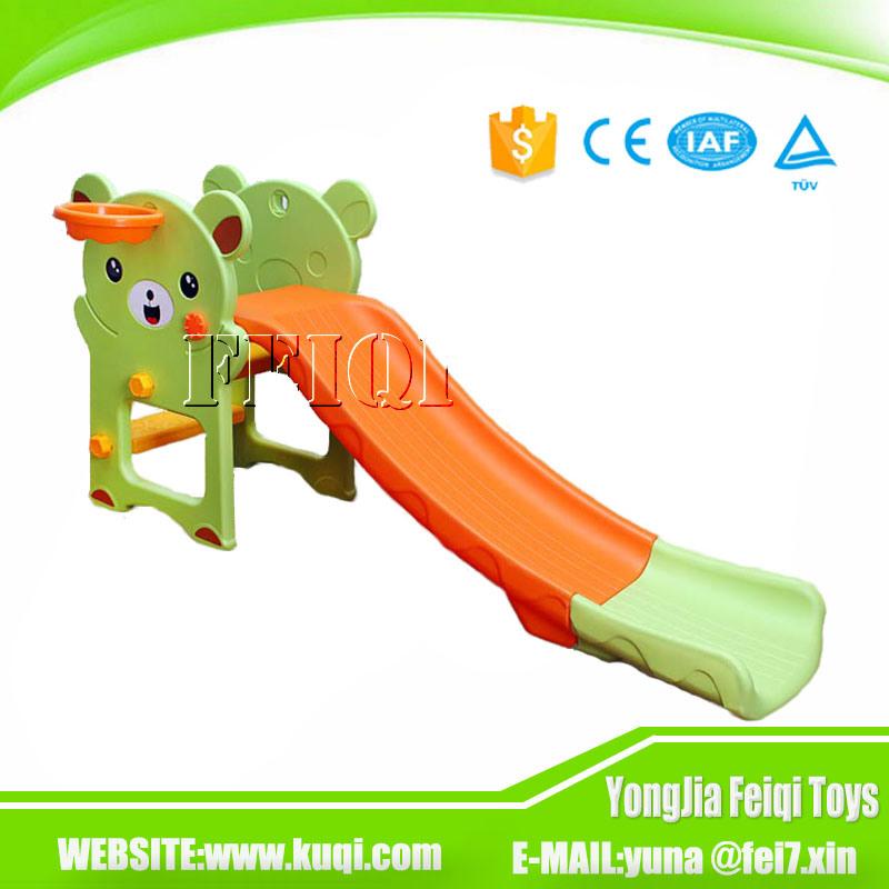 Indoor Playground Kid Toy Bear Plastic Children Slide for Kids