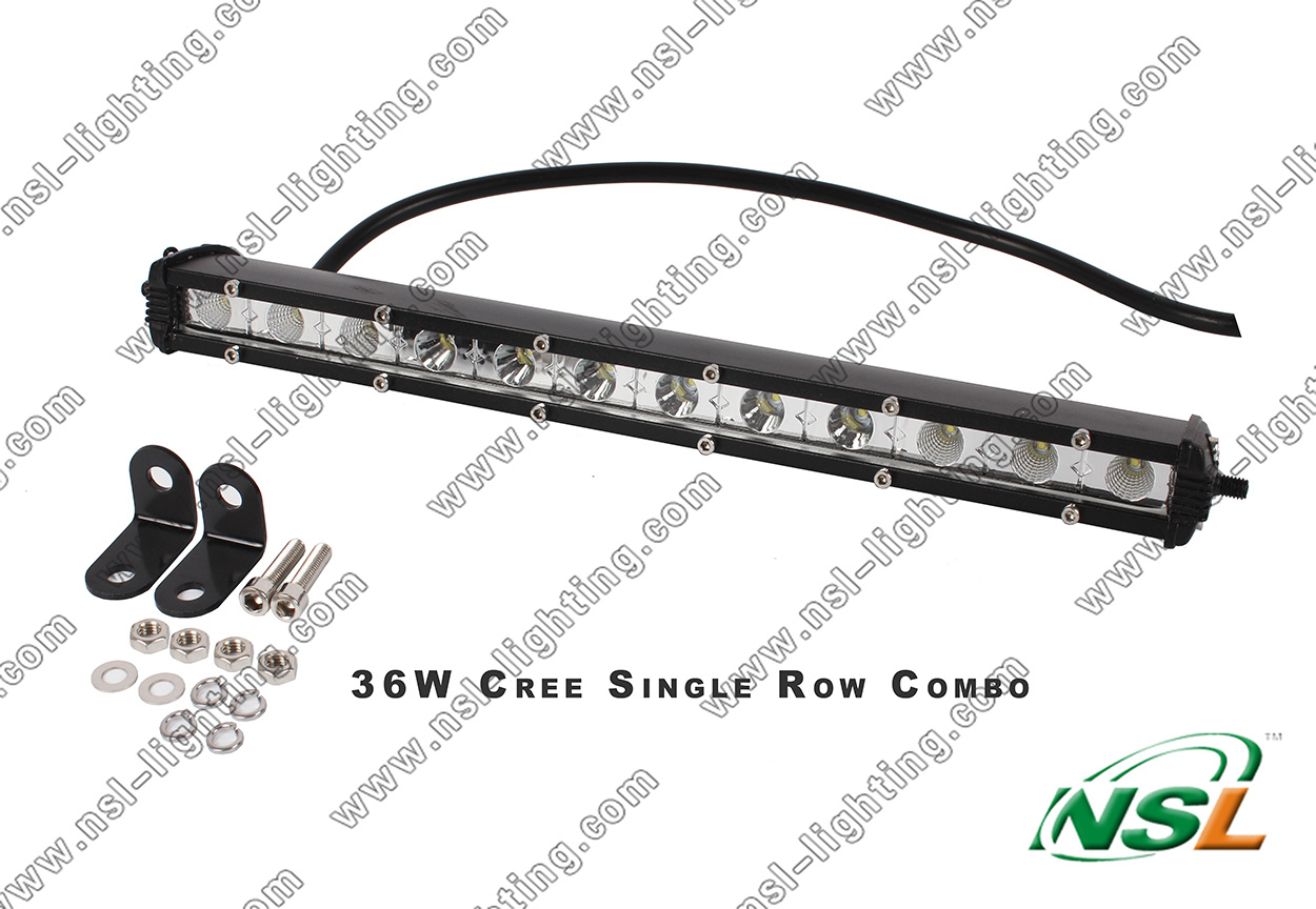 3years Warranty 13′′ 36W LED Light Bar Driving Work Lamp for SUV Truck ATV Car 4WD Jeep