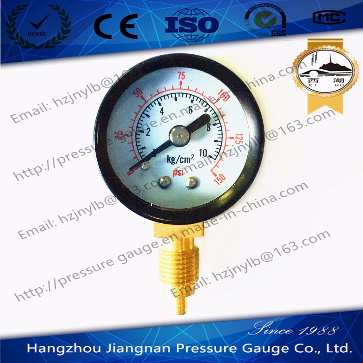 60mm 2.5′′ General Pressure Gauge with Black Case-Air Pressure Gauge