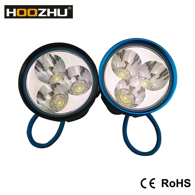 Hoozhu D30 Diving Light CREE Xm-L U2 LED 3000 Lumens Underwater Light for Diving