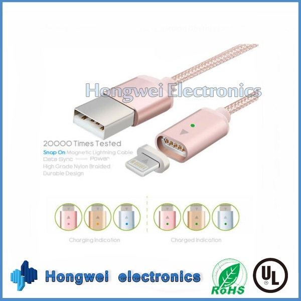 Magnetic Braided Lightning Charging Charger USB Cable for Apple iPhone Samsung