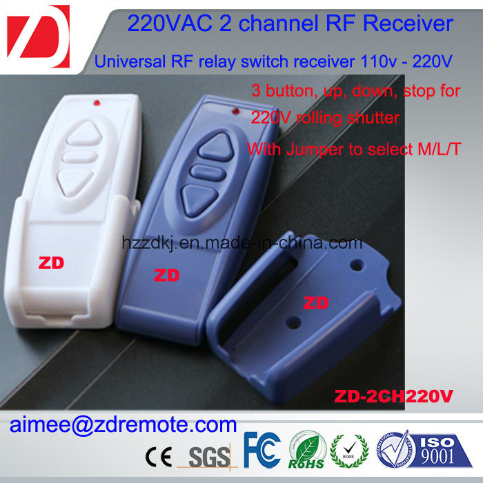 2channel 220V AC Wireless RF Remote Control Switch Radio Receiver