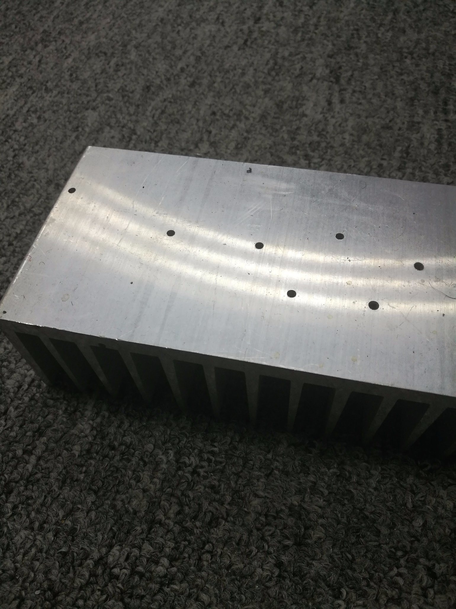 CNC Machined 6063t5 Mill Finish Aluminum Extruded Heatsink Profile