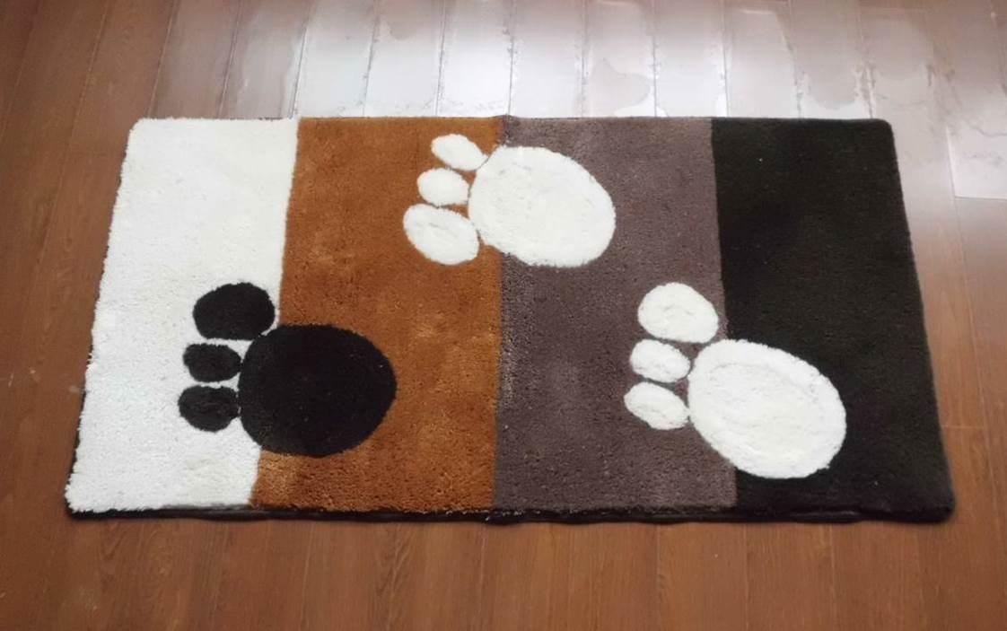 Oeko-Tex Eco-Friendly Living Room Acrylic Paw Tufted Carpet Door Mat