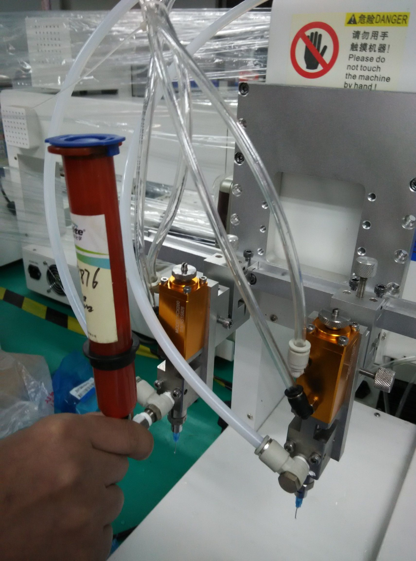 Four-Axis Automatic Glue Dispenser Made in China for Semiconductor Package