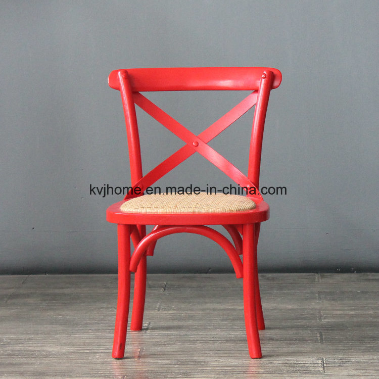 Cross Back Wooden Kids Dining Chair (RCH-4001-11)