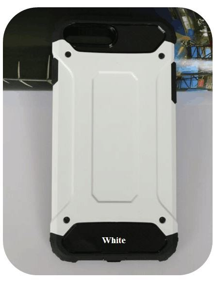 White TPU+PC Armor Inner Araneose Pattern Cell/Mobile Phone Cover