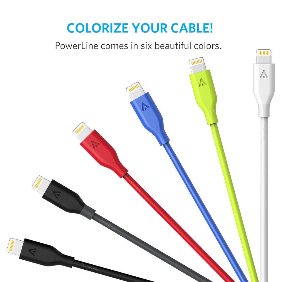 Anker Powerline+ Lightning Cable (6FT) [Double Braided Nylon]