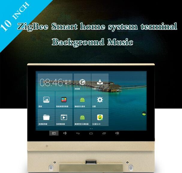 10 Inch Zigbee Smart Home Automation System Terminal Background Music