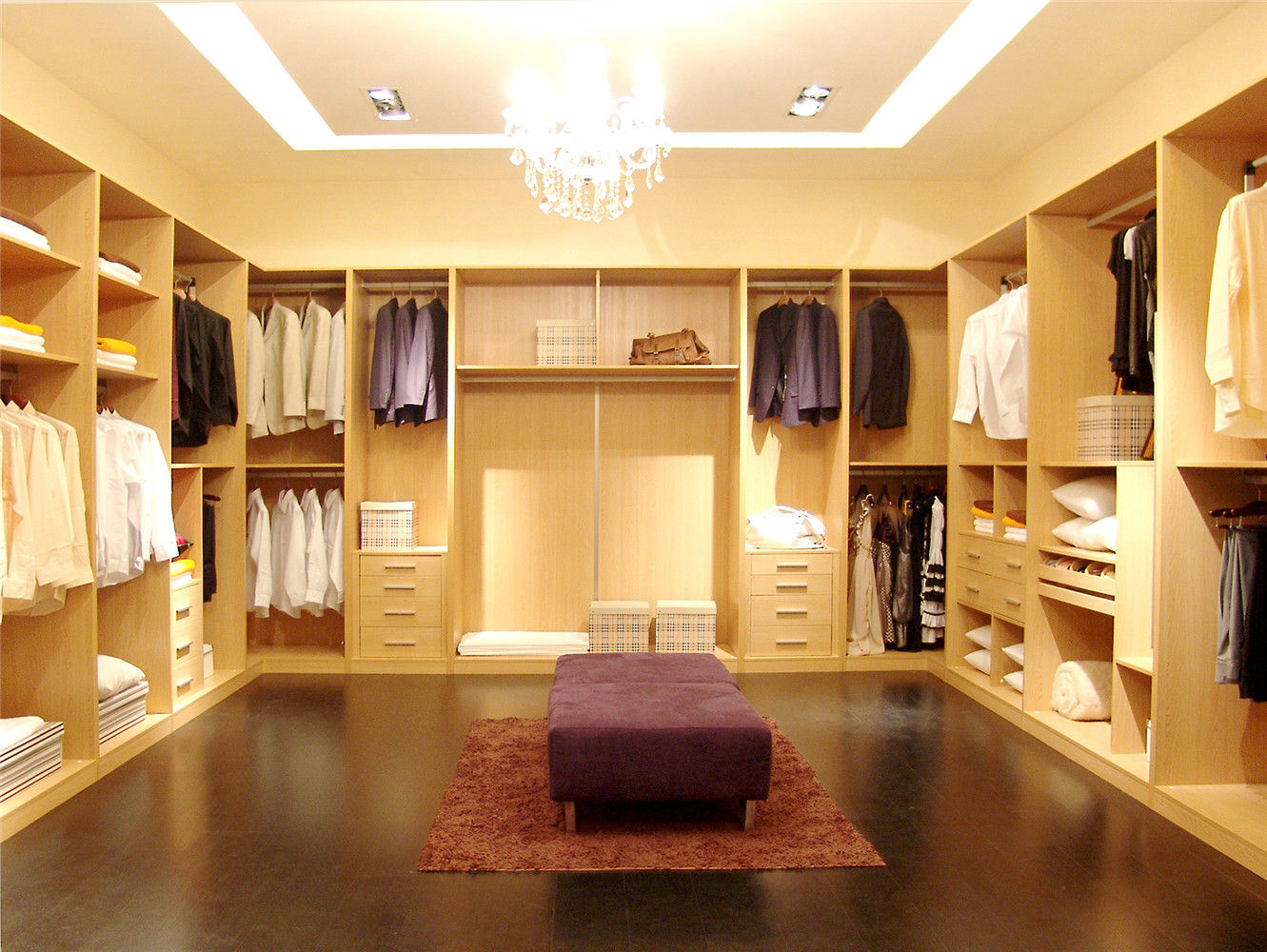 Bedroom Closet Walk-in Melamine Wardrobe