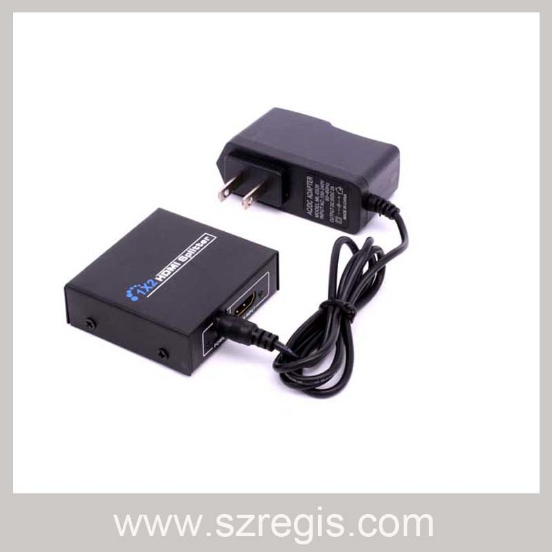 Fully Compatible with Hdcp 1 in 2 out 1X2 HDMI 1.4 Splitter