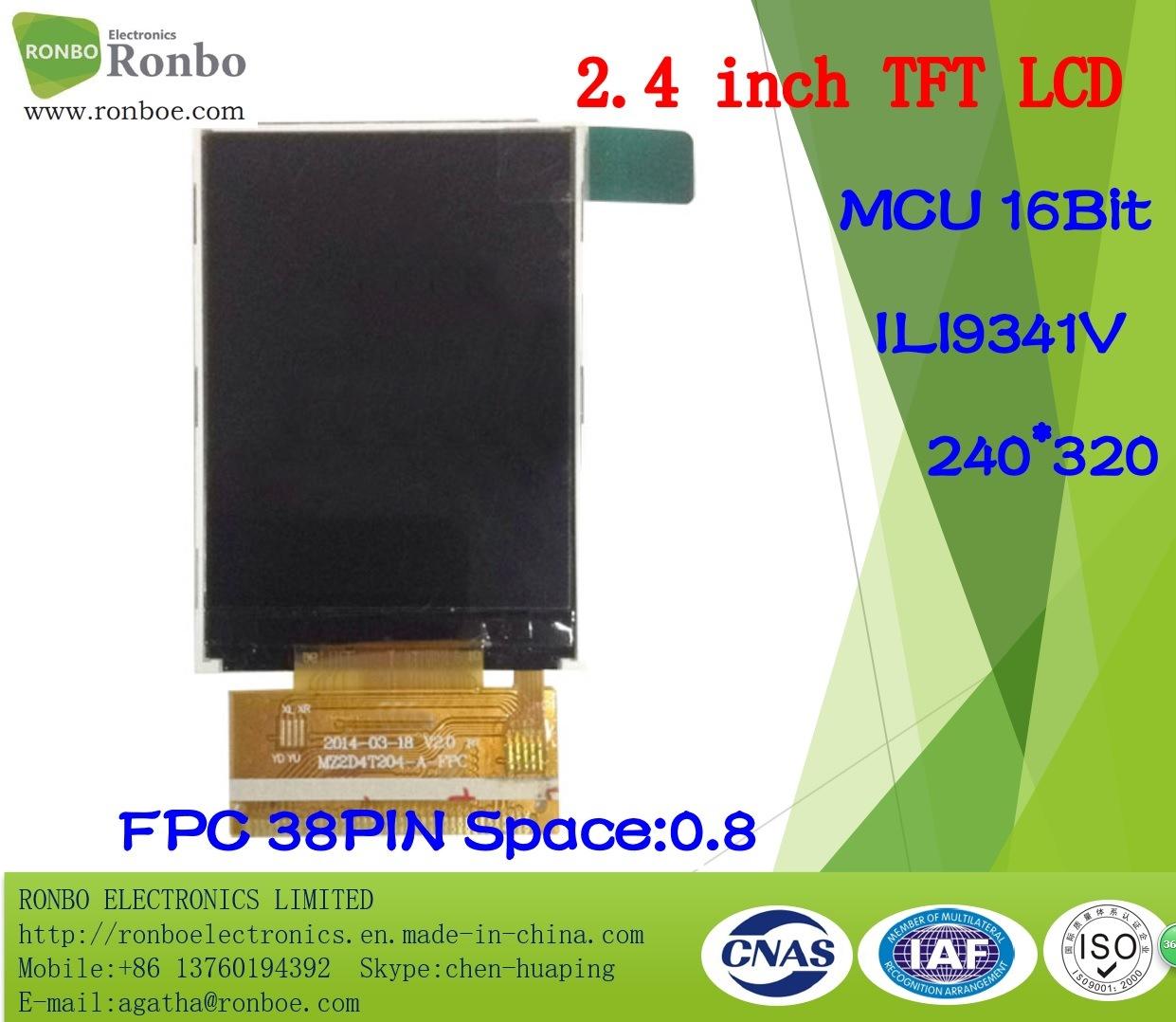 "2.4"" 240X320 MCU 16bit Option Touch Panel TFT LCD Screen Display"