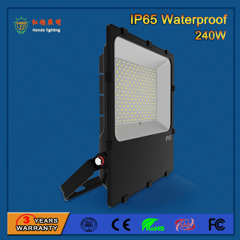 Tempered Glass 110lm/W SMD 3030 Outdoor 240W LED Flood Light