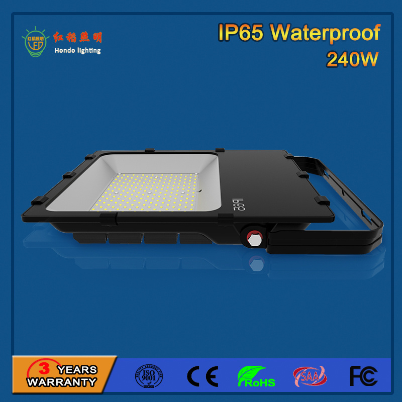 Tempered Glass 110lm/W 240W SMD 3030 Outdoor LED Flood Light