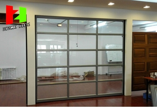 Automatic Sectional Transparent Security Shopfront Shopping Center Store Crystal Door (Hz-FC047)