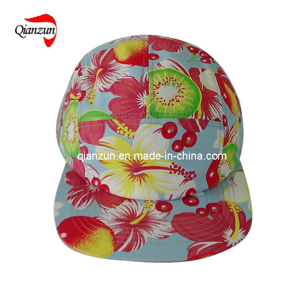 Polyester Foral 5 Panel Leisure Caps and Hats