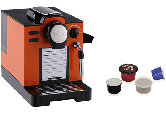 China Nespresso Capsule Coffee Machine Hec09 Orange