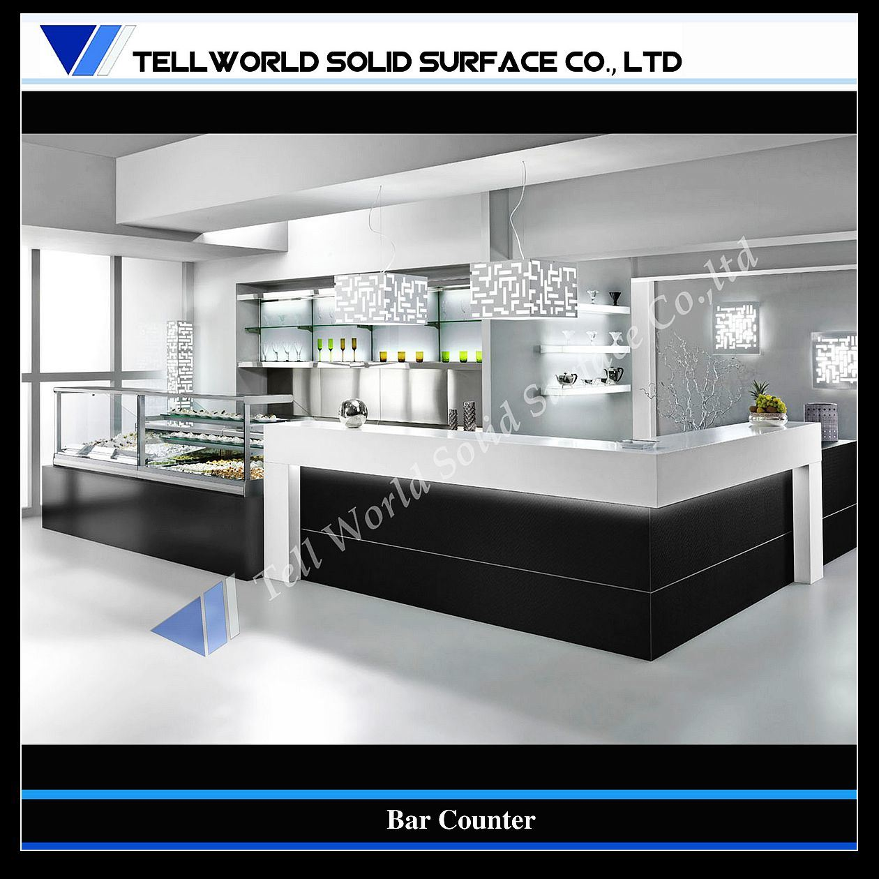 China customized artificial stone modern home bar design - Bar counter design at home ...