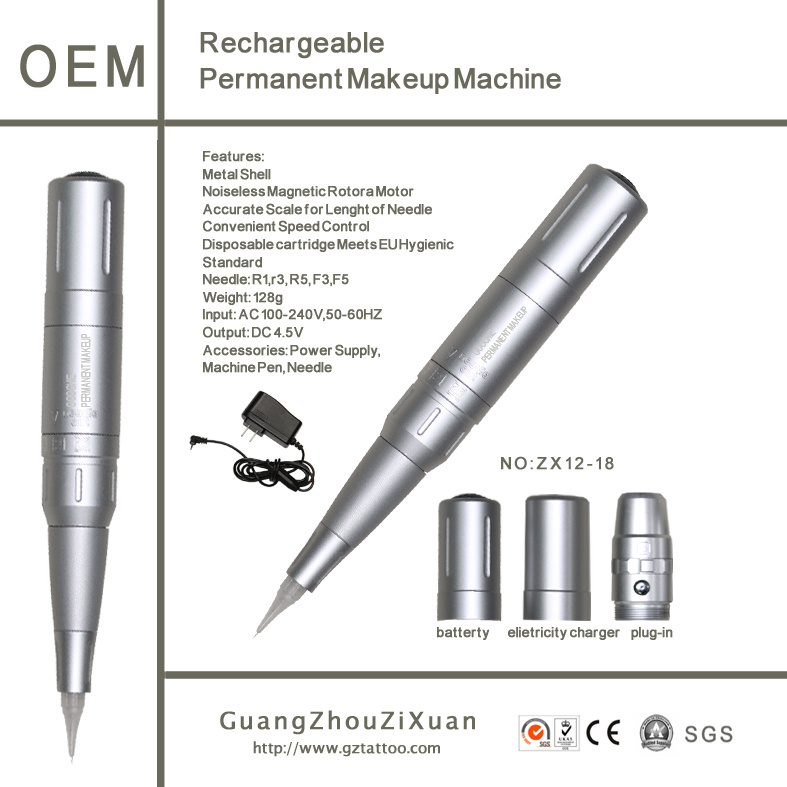 Rechargeable Tattoo Permanent Cosmetic Machine