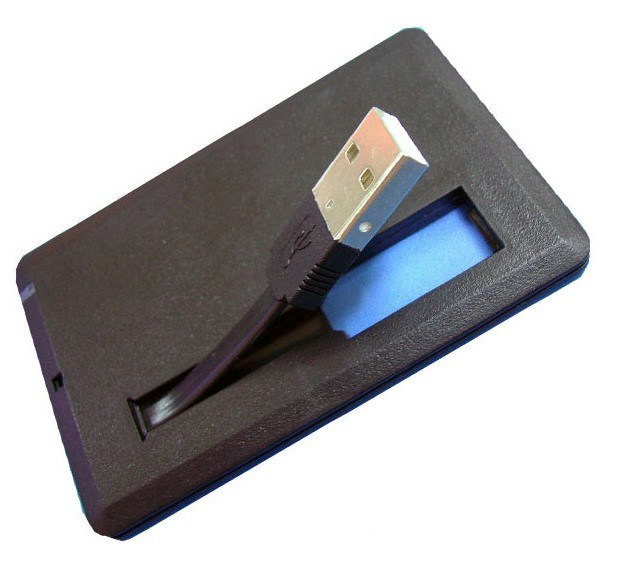 how to use credit card usb flash drive