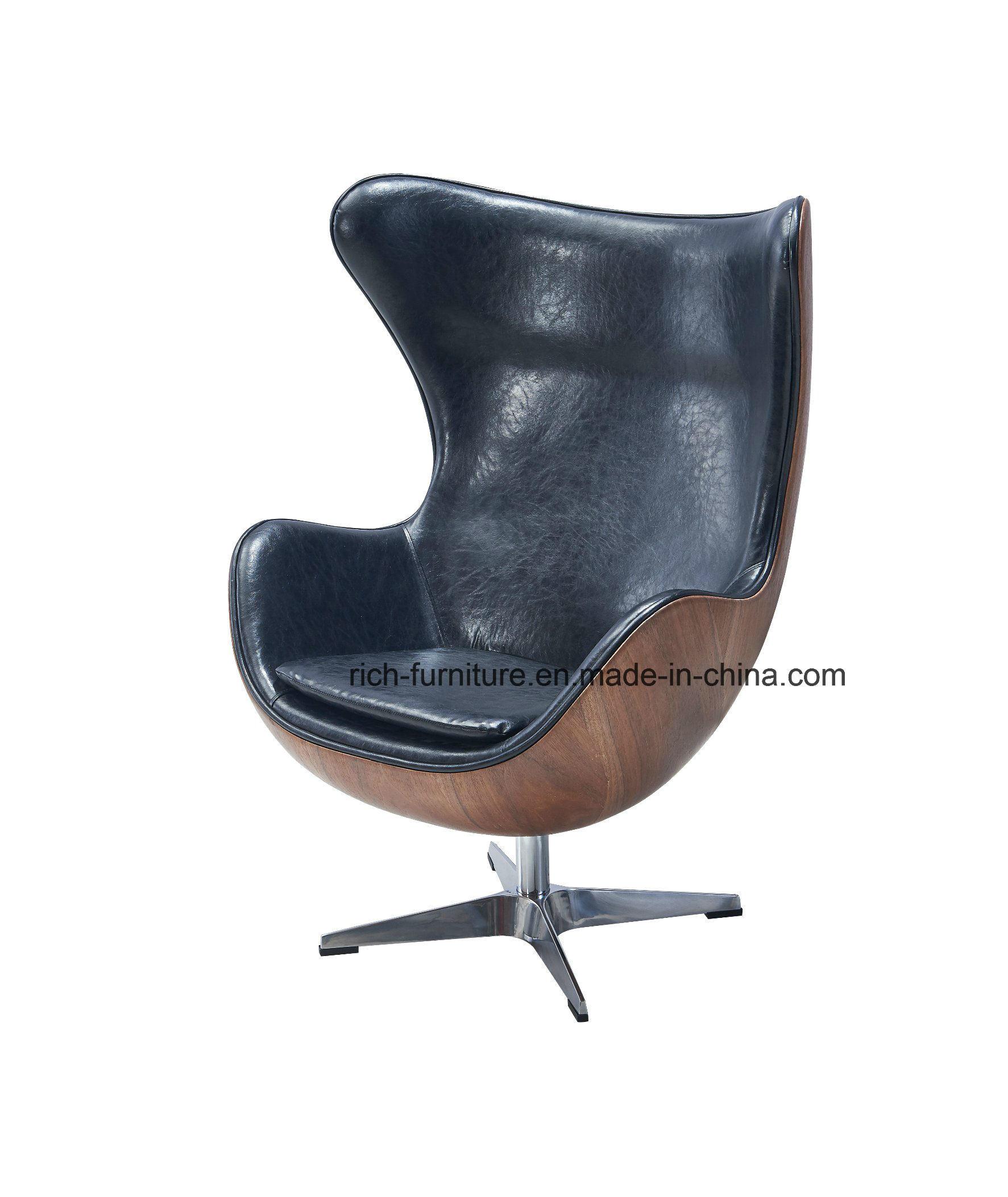knoll egg chair. China Egg Chair By Arne Jacobsen / European Design Armchair Danish Chaise In Wood Veneer - Vintage Leather Swan Chair, Knoll E