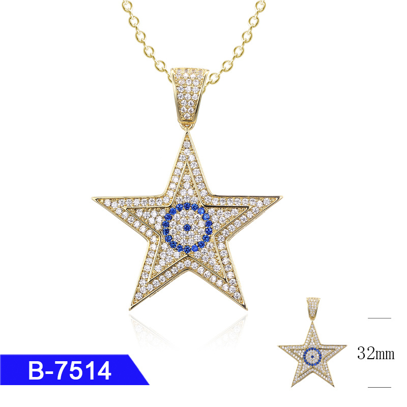 New Fashion Hip Hop Jewelry 925 Sterling Silver Iced out Diamond Star Pendant Charms for Sale pictures & photos