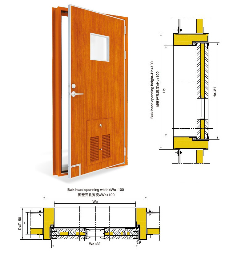 A60 Marine Fireproof Door