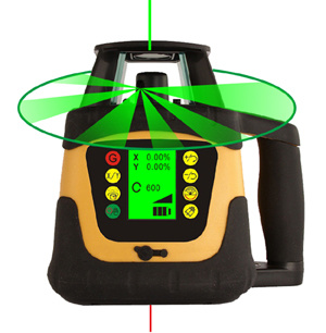 Automatic Self-Levelling Rotating Laser Level with LCD Display (400HV Red / 400HVG Green)