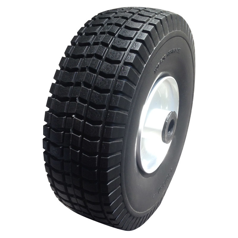 "10inch 10""X3.50-4 Flat Free PU Foam Wheel"