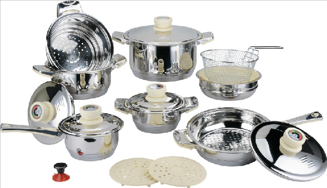 High Quality 18PCS Stainless Steel Cookware Set (CS118001)