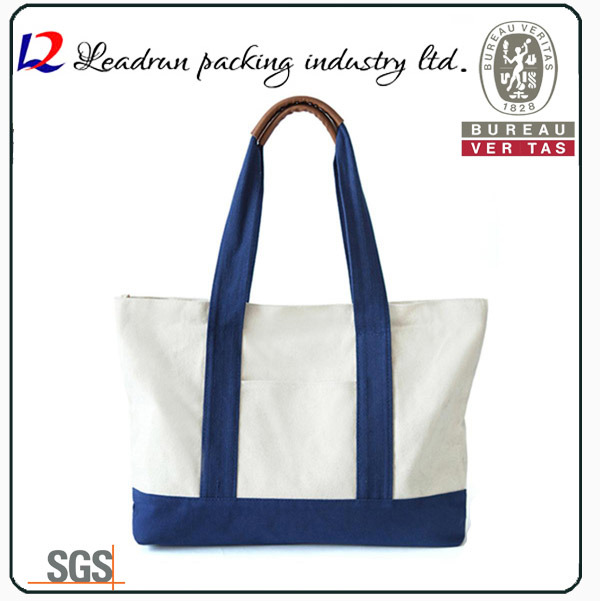 Gift Paper Nonwoven Shopping Bag Leather Cotton Canvas Handle Shopping Bag (X039)