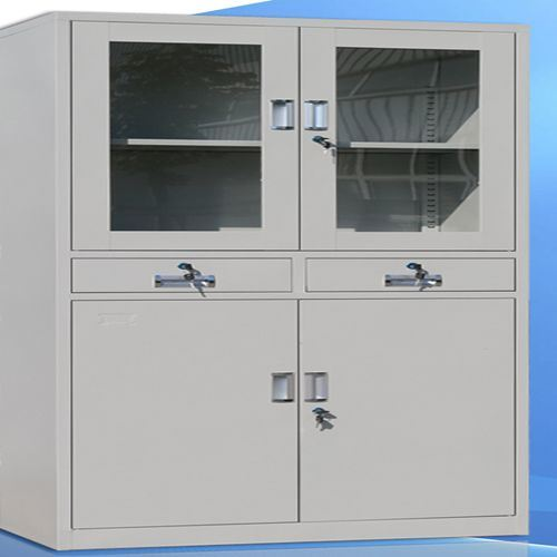 4-Door 2-Drawer Metal Filing Drawer Cabinet Office Furniture