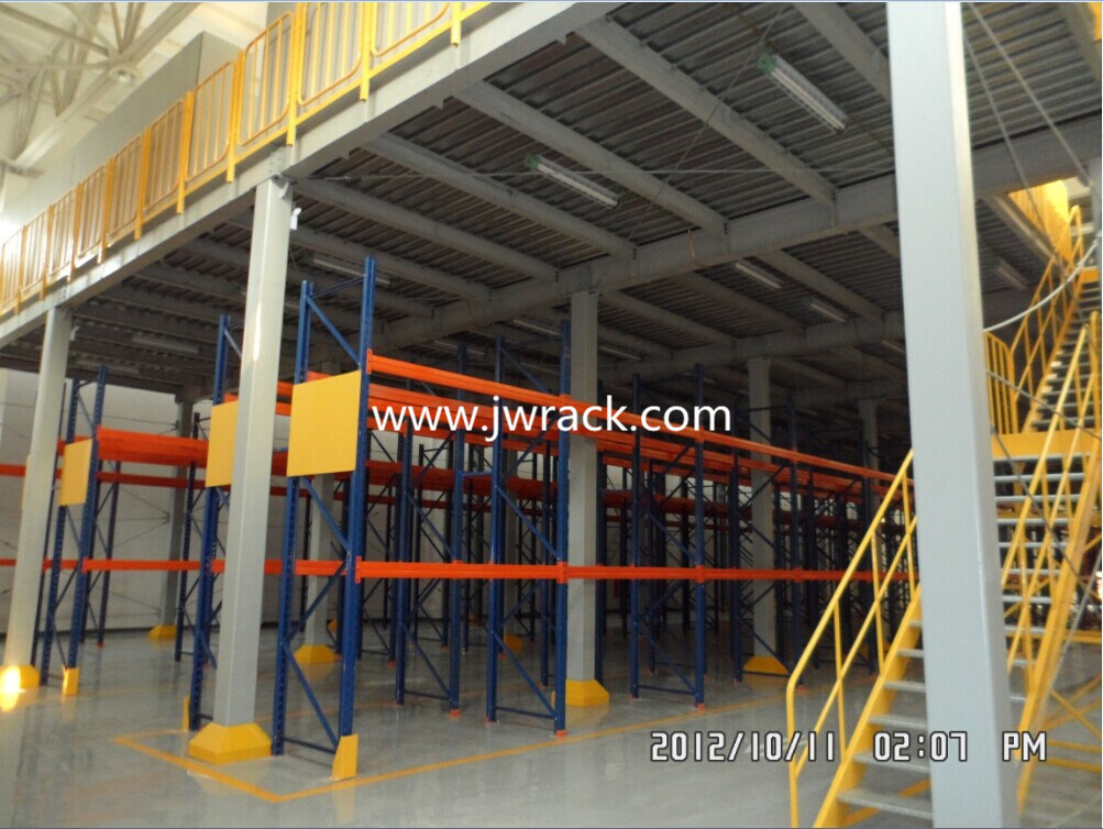 Warehouse Storage Multi Tier Steel Platform