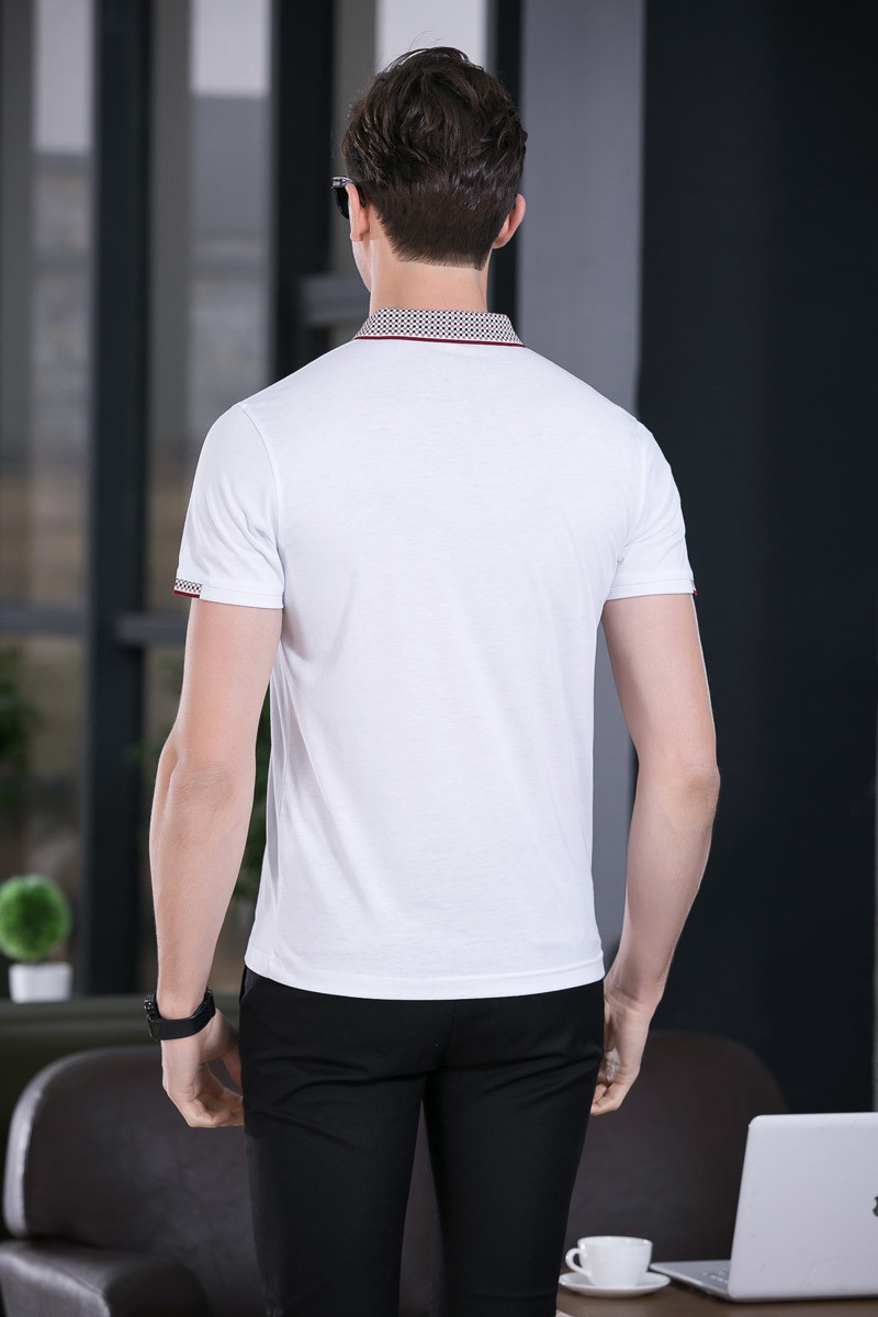 New Design Solid Color Men′s Short Sleeve Polo Shirt Slim Shirt for Men Tee Tops
