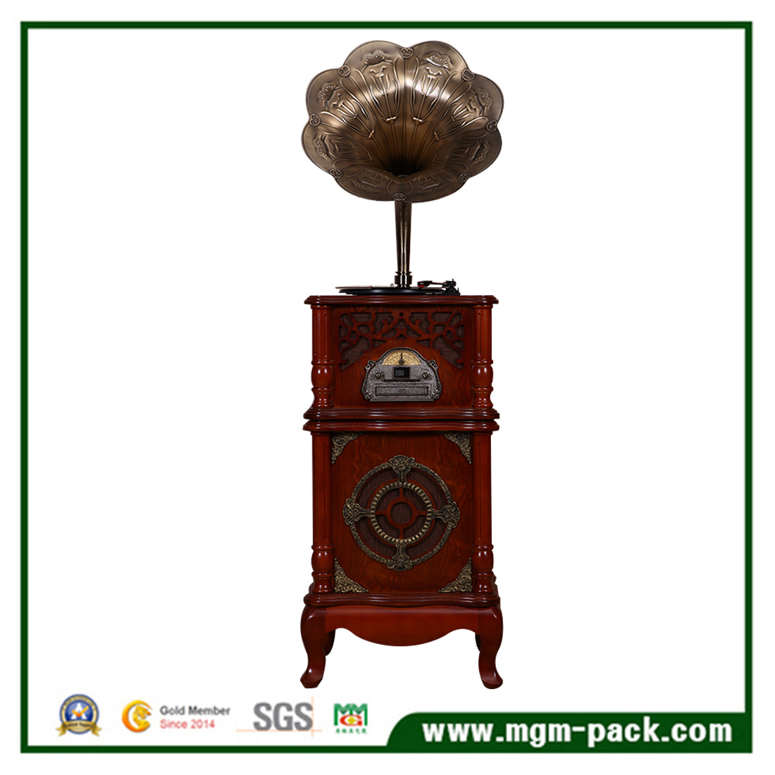 2017 New Arrival Wooden Phonograph as Gift