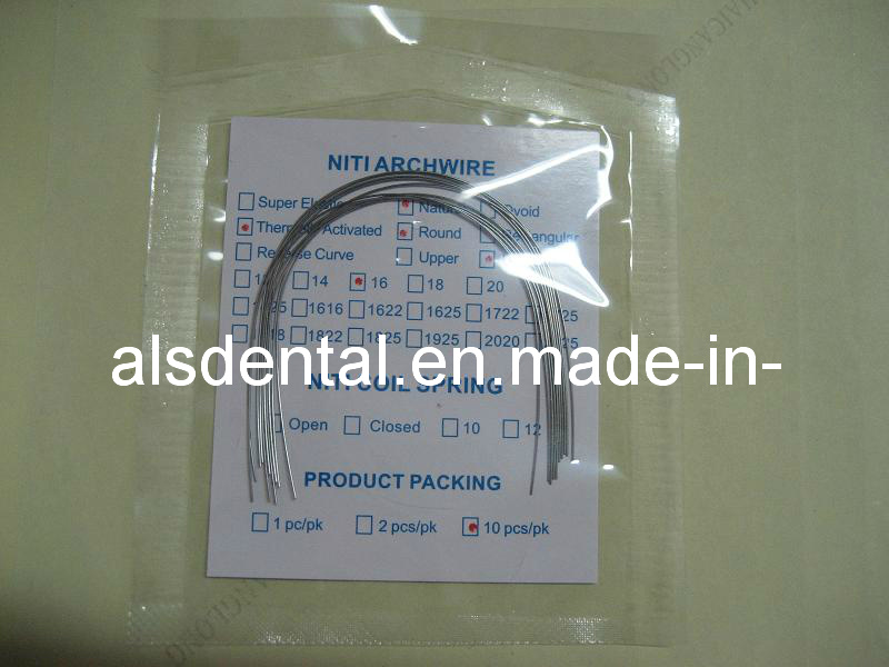 Dental Orthodonic Niti Arch Wire (super elastic/ thermally artivated)