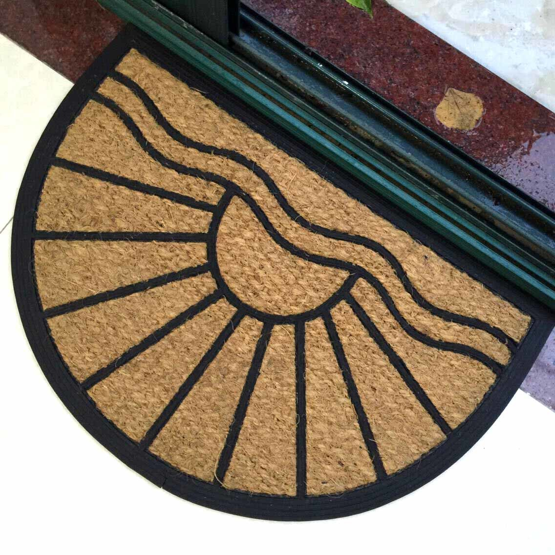 Outdoor Rubberized Rubber Coco Coconut Coir Fiber Brush Door Mats
