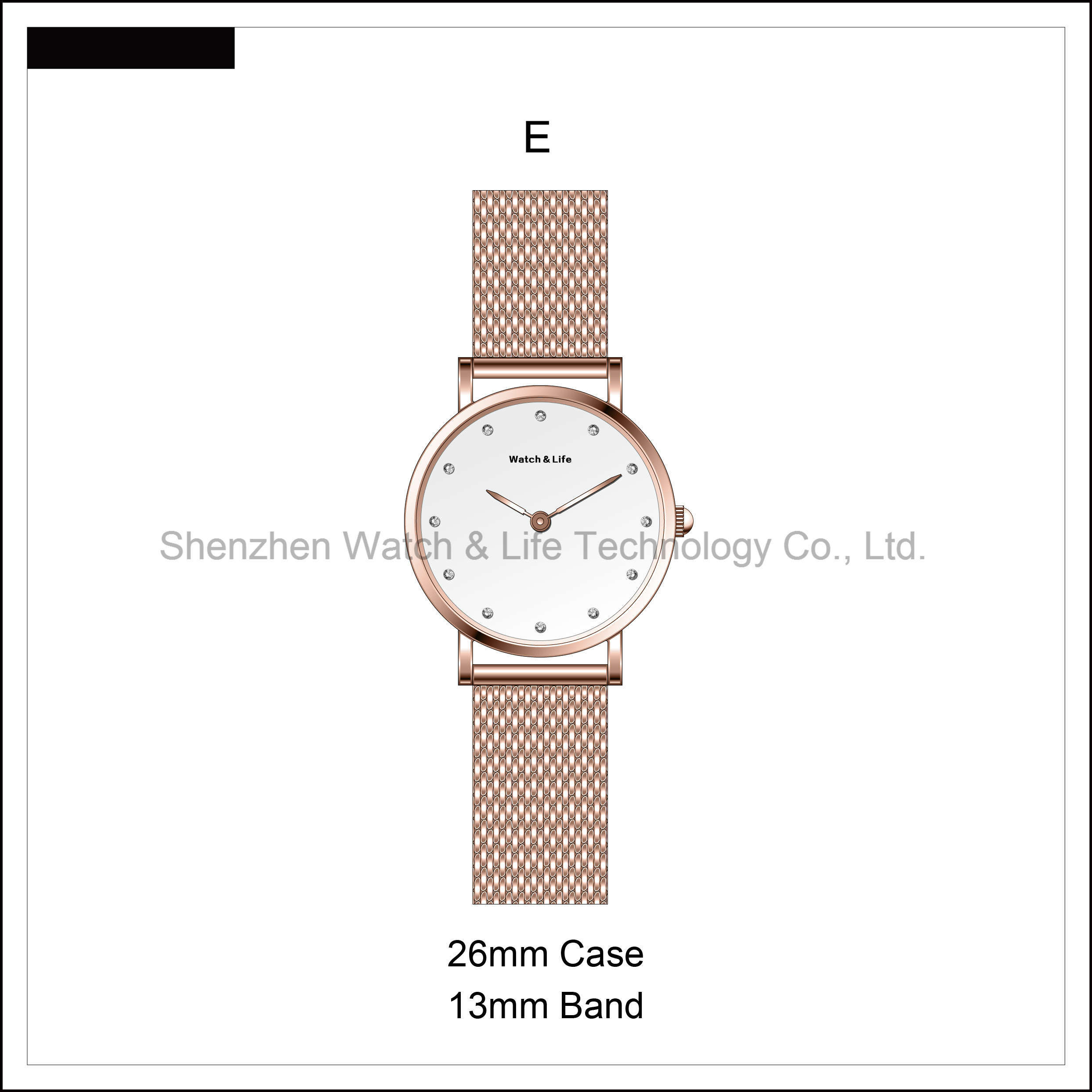 Promotion Watches Mesh Band Fashion Men′s Lady Simple D Style Wrist Watch
