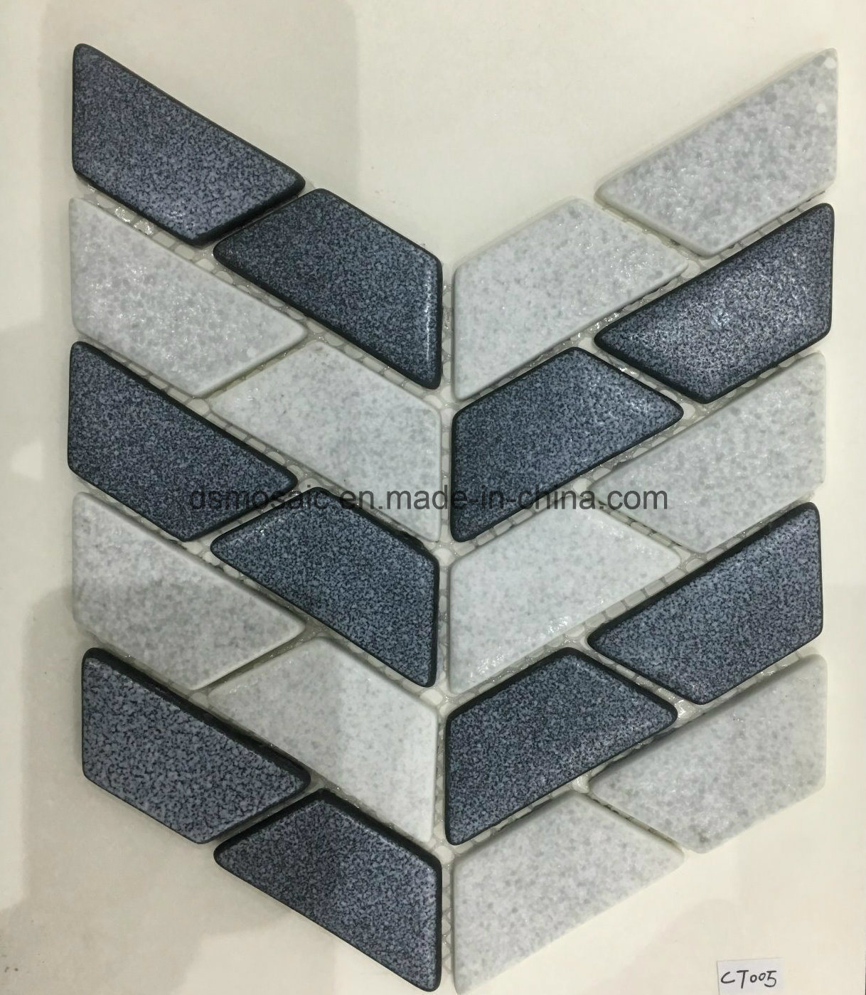 Newest Technology Ink Jet Printing Strip Glass Mosaic Tile