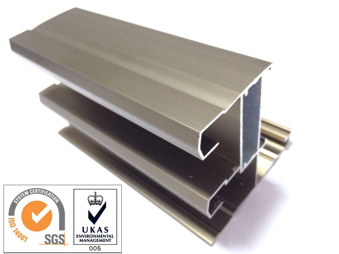 Champange Anodized Aluminum Profile for Door