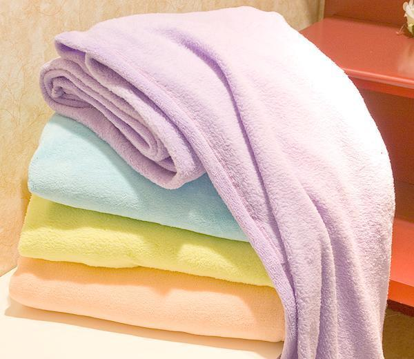 Plain Coral Fleece Blanket with for Home Use
