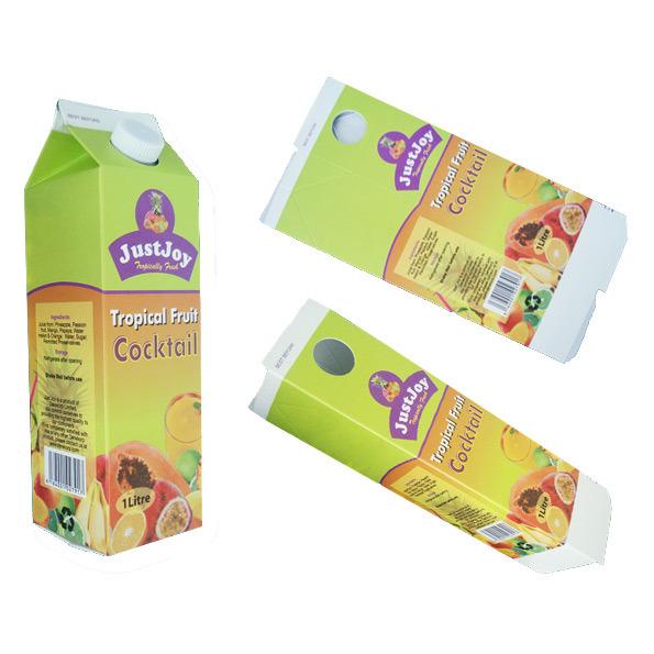 Carton Box for Fresh Juice-Aseptic Gable Top Carton