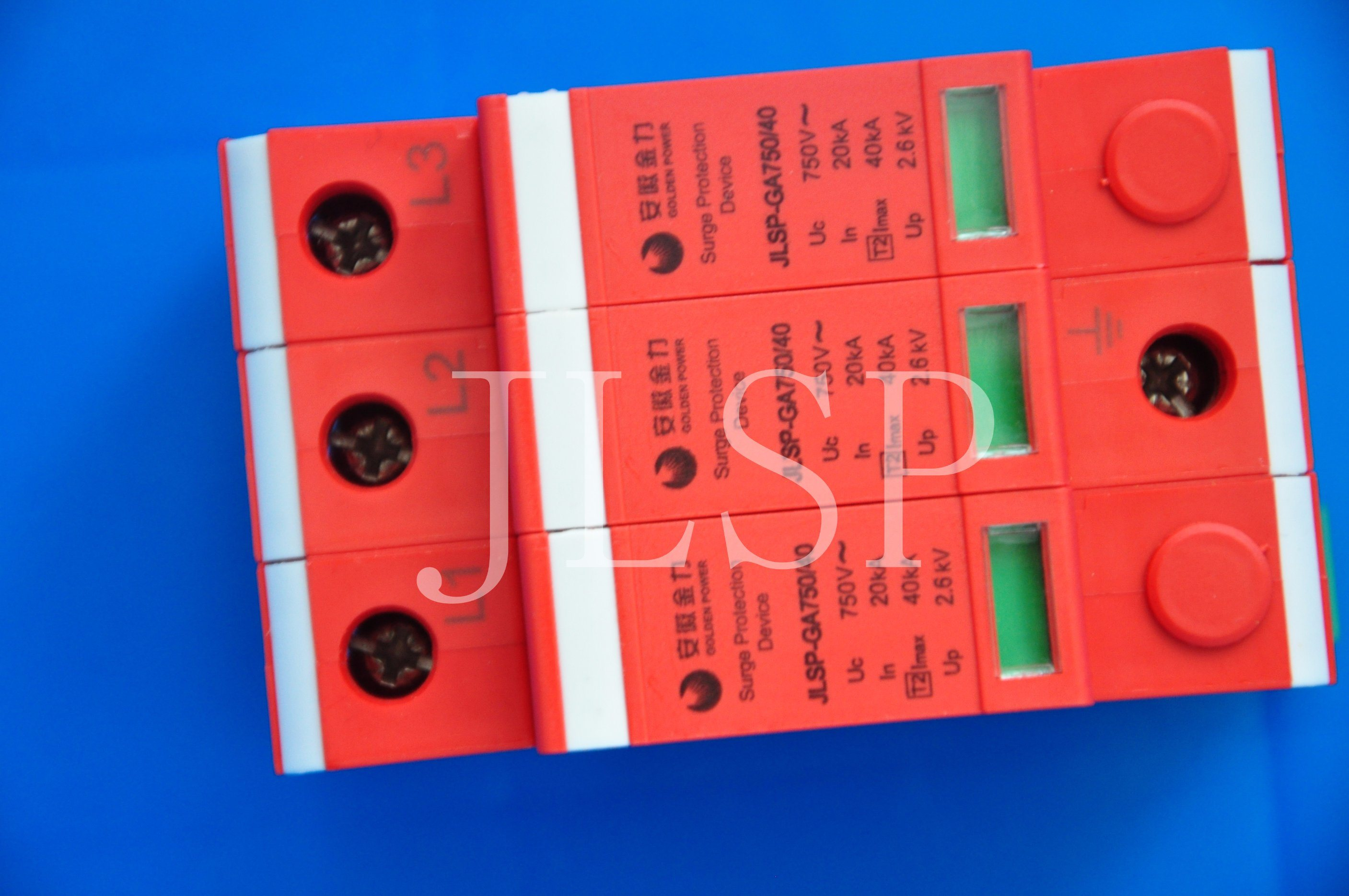 PV Application 20-40ka Solar 3p DC 1000V, Jlsp-Ga750-40, SPD, Surge Protector, 17005