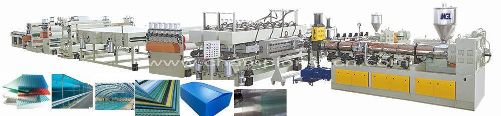Good Quality High Output PC Hollow Construction Extruding Machine